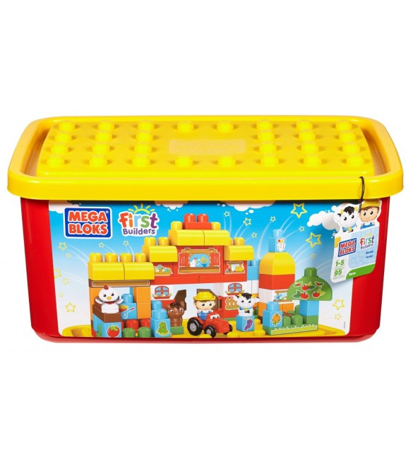 Mega Bloks Buildable Toy Chest Farm Tub