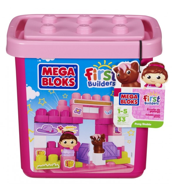 Mega Bloks Pony Stable Building Block Bucket 6633