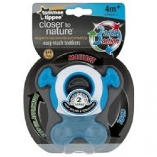 Tommee Tippee Closer to Nature Teether (Stage 2) Blue