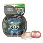 Tommee Tippee Closer to Nature Stage 1 Teether, Pink or Blue, 2 pieces