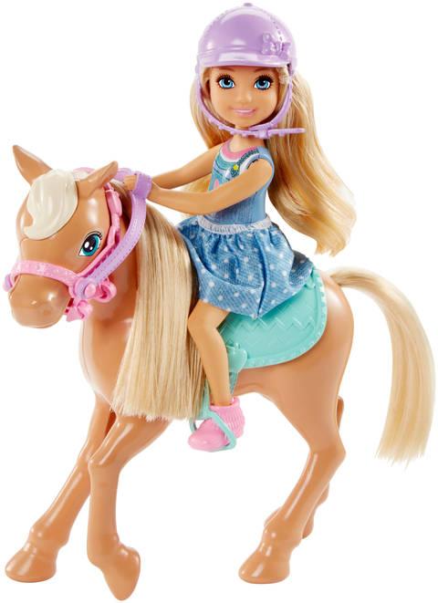 Barbie Club Chelsea Doll And Pony Barbie Toysfigures